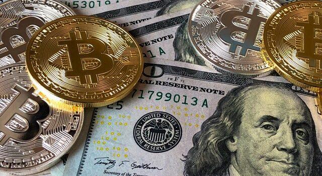 Bitcoins på dollars